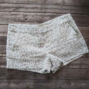 Joie Snow Leopard Linen Shorts Size 4